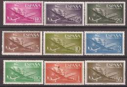 ES1169-B087TL.LOTE,Spain. Aviones.Barcos.SUPER-CONS TELLATION  Y NAO SANTA MARIA 1955/56.(Ed. 1169/79**)sin Charnela - Timbres