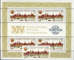 #Q782. Poland 1983. Thorn 750 Years. Engravings. Michel 2876 + Block 92. MNH(**) - Unused Stamps