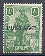 130202762  MALTA  G.B.  YVERT  Nº  104  *  MH - Malta (...-1964)