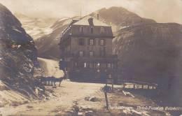 CPSM FURKASTRASSE SUISSE HOTEL PENSION DU BELVEDERE 1950 - VS Valais