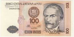 BILLET # PEROU # 1987 #CIEN INTIS  # CENT INTIS # NEUF # RAMON CASTILLA - Perú