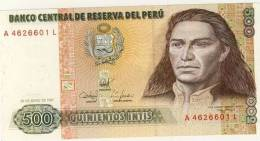 BILLET # PEROU # 1987 # QUINIENTOS INTIS  #  CINQ CENT INTIS # NEUF #JOSE GABRIEL CONDORCANQUI - Perú
