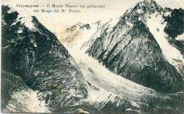 Courmayeur - Il Monte Bianco Dal Ghiacciaio Del Miage Dal M. Fortin - Italia