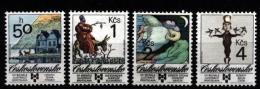 CS 1989 Mi 3013-6 Yt 2814-2817 ** Art For Children - Unused Stamps