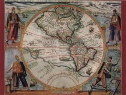CPM - Carte Géographique Ancienne  -  Amériques 1596 - Nouveau Monde - Cartes Géographiques