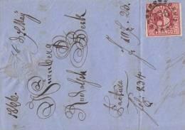 Bayern BriefvorderseiteEF Minr.9 Nr.-St. 356 Nürnberg - Bavaria