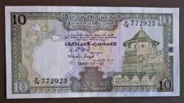 Banknote Papermoney 10 Ruppees Ceylon - Banknoten