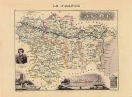 CPM - Carte Géographique Ancienne  -  France - Aude - Cartes Géographiques