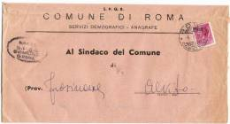 Roma Campidoglio 6.4.1955 - Comune Di Roma - L.13 Tariffa Ridotta - 6. 1946-.. Repubblica