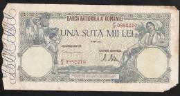 ROUMANIE ROMANIA P58  100.000 LEI  28 Mai 1946    VG - Rumania