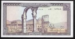 LIBAN LEBANON P63f    10   LIVRES    1986   UNC. - Liban