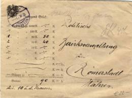 Austria - 1921 Wertbrief, Lettre Valeur From Villach To Römerstadt - 1918-1945 1. Republik