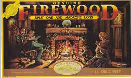 Bloomfield Firewood Bloomfield Farms Santa Clara California Vintage Advertising Label - Unclassified