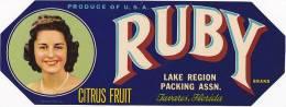 Ruby Brand Citrus Lake Region Packing Association Tavares Florid