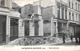 BELGIQUE - ANVERS - ANTWERPEN - BERCHEM - 1914 - Statiestraat. - Antwerpen