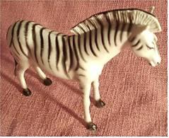 ältere Zebra-Figur Aus Kunststoff  , Länge Ca. 17 Cm - Action- Und Spielfiguren