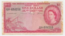 British Caribbean Territories 1 Dollar 1964 VF P 7c  7 C - Caraïbes Orientales