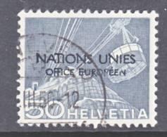 Switzerland 7 O 9  (o)  UNITED NATIONS - Dienstzegels