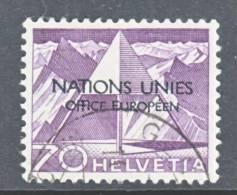 Switzerland 7 O 11  (o)  UNITED NATIONS - Dienstzegels