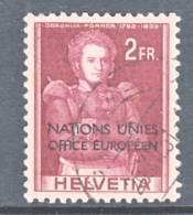 Switzerland 7 O 17  (o)  UNITED NATIONS - Dienstzegels