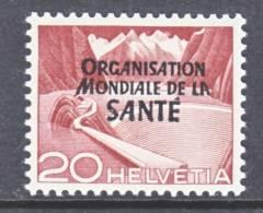 Switzerland 5 O 9   *    WHO   ORG. MONDIALE De La  SANTE - Dienstzegels