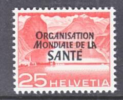 Switzerland 5 O 10   *    WHO   ORG. MONDIALE De La  SANTE - Officials