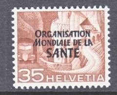 Switzerland 5 O 12   *    WHO   ORG. MONDIALE De La  SANTE - Officials
