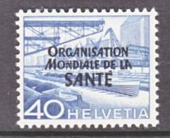 Switzerland 5 O 13   *    WHO   ORG. MONDIALE De La  SANTE - Officials