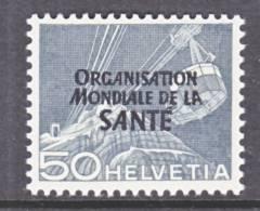 Switzerland 5 O 14   *    WHO   ORG. MONDIALE De La  SANTE - Dienstzegels