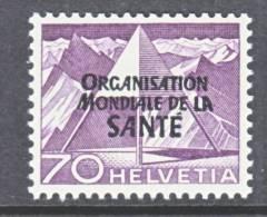 Switzerland 5 O 16   *    WHO   ORG. MONDIALE De La  SANTE - Dienstzegels