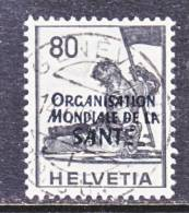 Switzerland 5 O 17   (o)    WHO   ORG. MONDIALE De La  SANTE - Officials