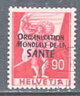 Switzerland 5 O 18   (o)    WHO   ORG. MONDIALE De La  SANTE - Dienstzegels