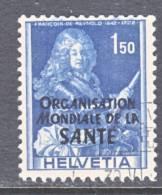 Switzerland 5 O 21   (o)    WHO   ORG. MONDIALE De La  SANTE - Dienstzegels