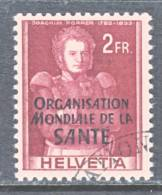 Switzerland 5 O 22   (o)    WHO   ORG. MONDIALE De La  SANTE - Dienstzegels