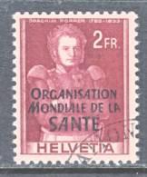 Switzerland 5 O 22   (o)    WHO   ORG. MONDIALE De La  SANTE - Officials