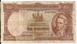 New Zealand - P158a - 10 Schillings - (1940-55) - Fine - New Zealand