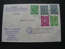 == R-Brief Merzen 1947  Bug Mitte - Sowjetische Zone (SBZ)