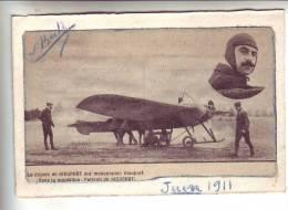 Le Départ De  NIEUPORT Sur Monoplan Nieuport Dans Le Médaillon Portrait De NIEUPORT - Découpis