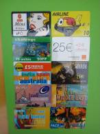 Worldmix 10 Prepaidcards Used - Unclassified