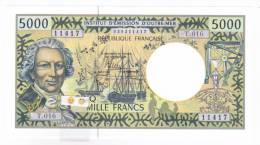 Polynésie Française / Tahiti - 5000 F CFP - Alphabet T.016 / 2013 / Signatures Barroux / Noyer / Besse - Neuf / UNC - Papeete (Polynésie Française 1914-1985)