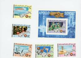 Mauritanie 1975-Apollo Soyouz-MI 522/26+B13***MNH-NON Dentelé - Space