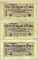 (1044903) Deutsches Reich. 3 X 5 Milliarden Mark 1923, Ro. 120 E - [ 3] 1918-1933 : Weimar Republic