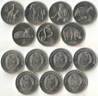 KOREA NORTH  Set 7 Coins -2002-animals - Corée Du Nord