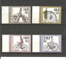 DSP2271/ BRDMi.Nr.1242-45**/ (1985) Fahrräder,  Mit Seitenrand - BRD