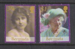 Bermuda 2002 Queen Mother Memorial Set 2 MNH - Bermuda