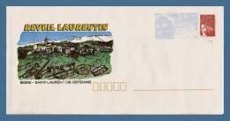 =CDE : PAP Marianne De Luquet - 66 - ST-LAURENT DE CERDANS. Réveil Laurentin. (N° 859 Lot 103/629). Neuf - Entiers Postaux