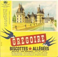 Buvard Biscottes Gregoire Chateau De Maintenon - Biscottes