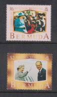 Bermuda 1997 QEII Golden Wedding Anniversary Set 2 MNH - Bermudes