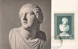 Carte-Maximum POLOGNE  / Niobé, Sculpture Grecque - Maximumkaarten