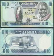 ZAMBIA 1986-88 10 KWACHA P26e UNC  -G - Zambia